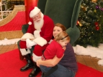 Katelyn was a little Hesitant of Santa