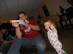 Uncle Kyle is shooting stuff!
